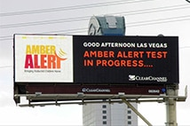 Testing the Amber Alert program on a digital billboard