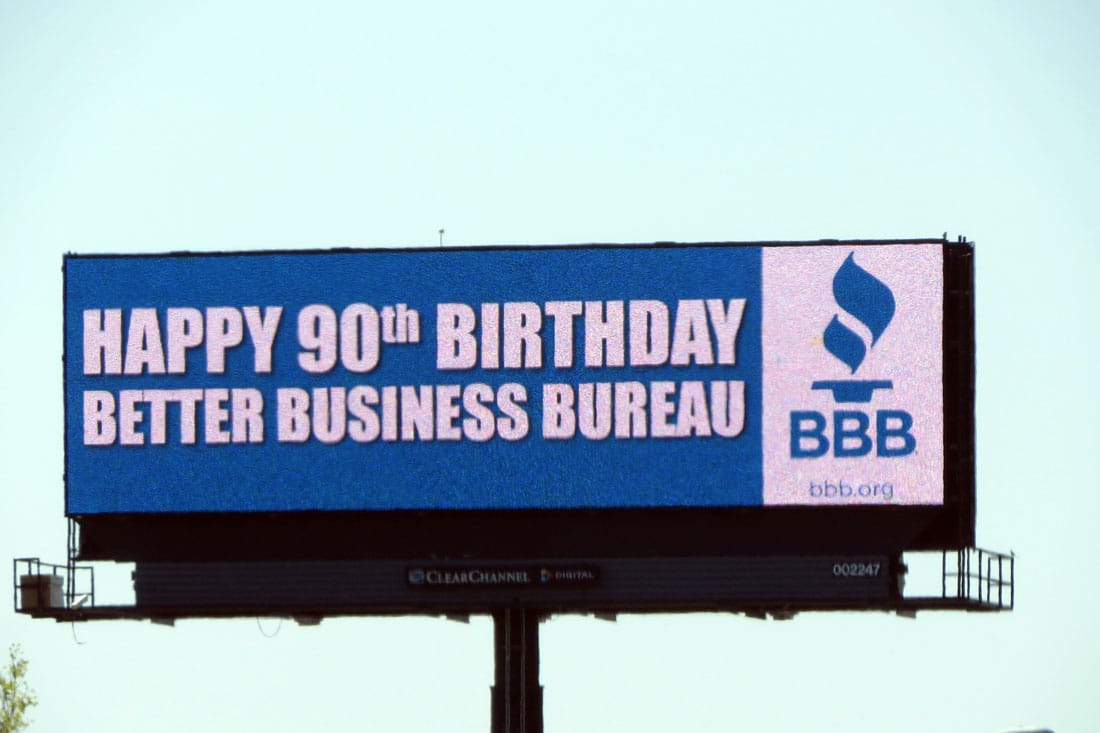 brands toast their milestone birthdays with billboards. Black Bedroom Furniture Sets. Home Design Ideas