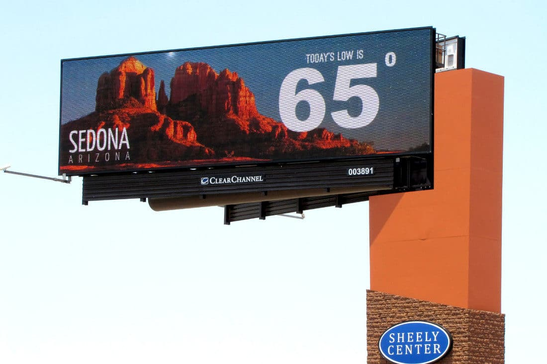 sedona chamber of commerce billboard