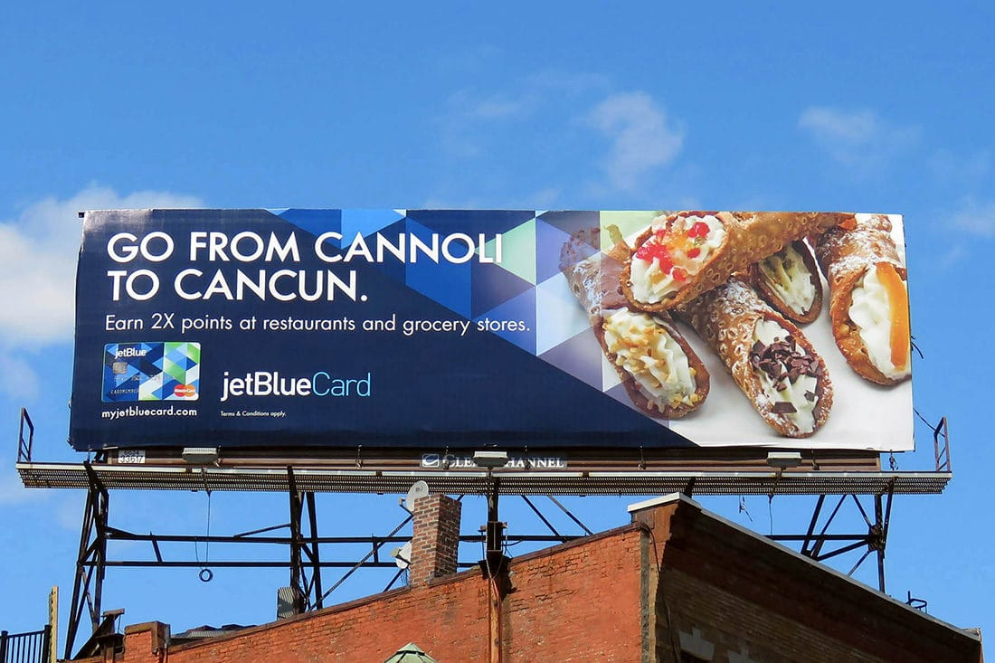 jetblue card billboard