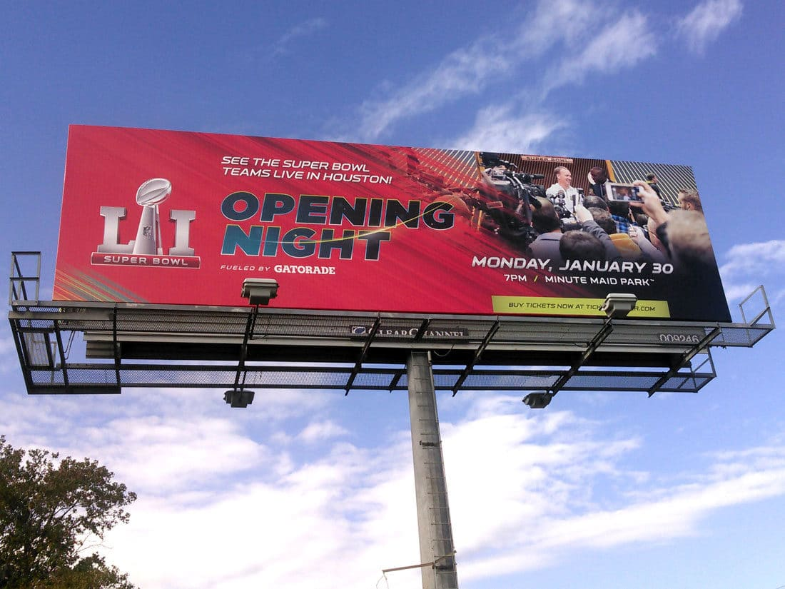 Houston Super Bowl Host Committee Billboard