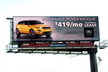 Land Rover Tampa >> Dimmitt Land Rover Tampa Digital Billboard Clear Channel