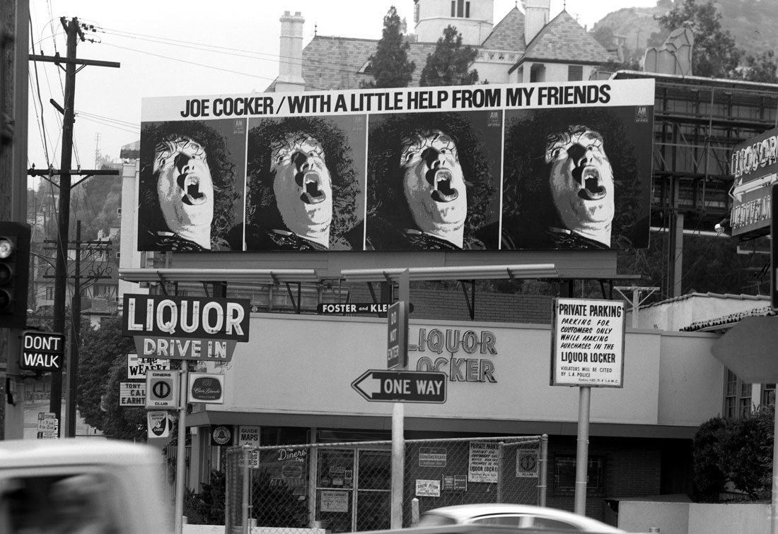 Joe Cocker Billboard Sunset Strip 1969