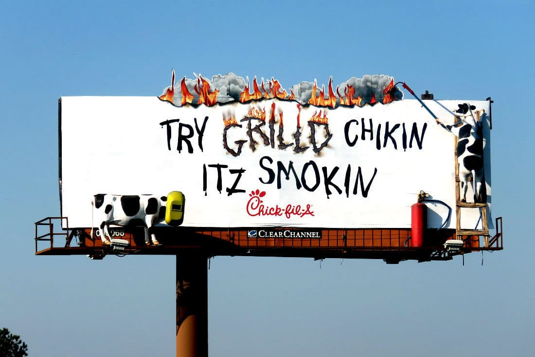 Chick-Fil-A Smokin Billboard